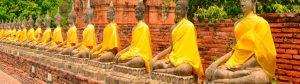 El templo Wat Yai Chai Mongkol de Ayutthaya